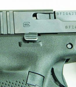 The Glock Generation 5 features an ambidextrous magazine release.