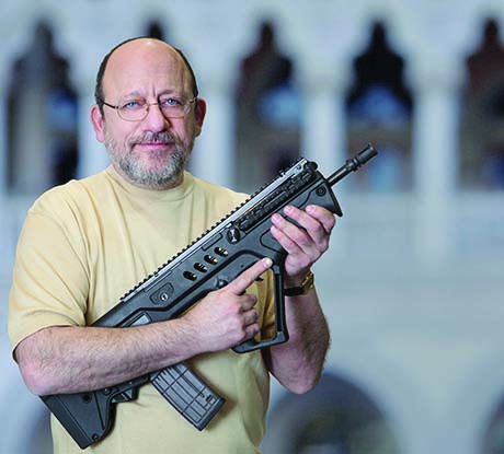 Michael Kassnar with Tavor.