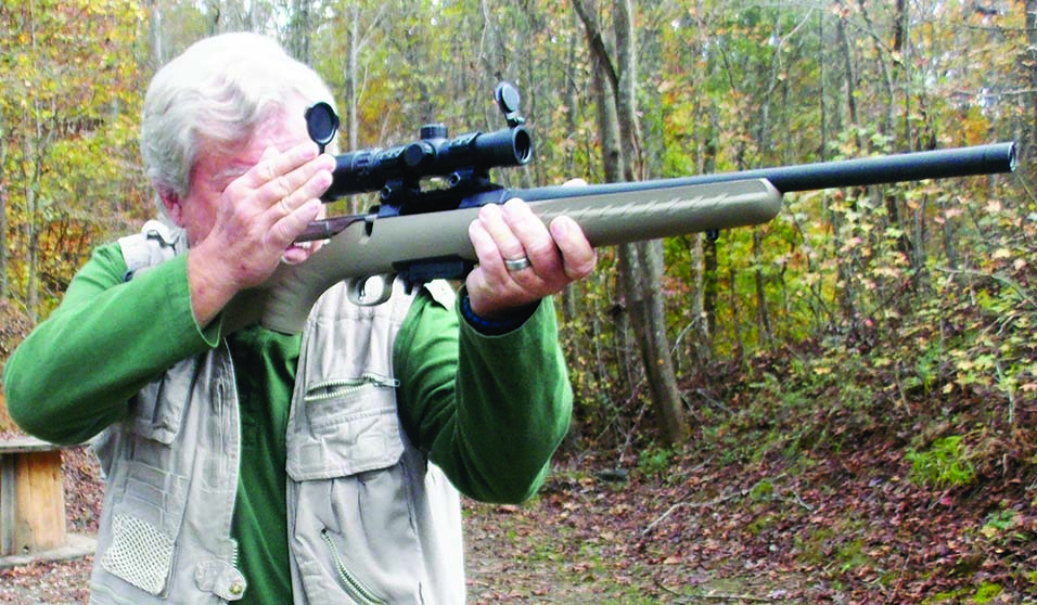 This is one fast handling rifle! The balance and point of the rifle are excellent. And it's light enough at about  seven pounds with a rifle scope.
