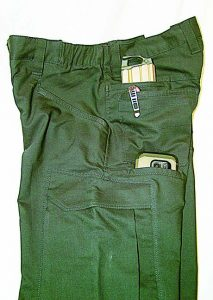 "For shooters who prefer a more ""BDU"" style pants Vertx's Fusion Stretch Tactical Pant is an excellent choice. If you need more pockets you might need a vest."