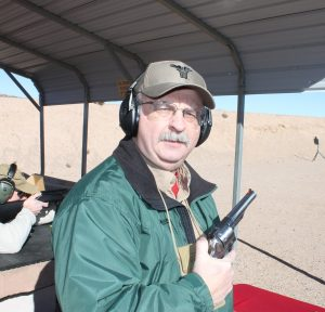 Author Workman put the 8-shooter through its paces at the annual Media Day at the Range during SHOT Show 2018.