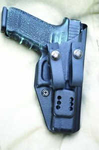 The Dark Star gear IWB holster is a good choice for concealed carry. Note the excellent fit and molding.