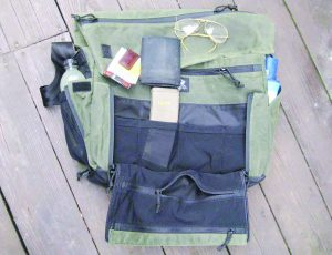 Partially loaded, the Wanderer has more than enough pockets for organizing lots of every carry gear.