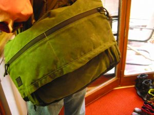 Loaded up and heading out the door, the Wanderer was comfortable to carry on the web shoulder strap.