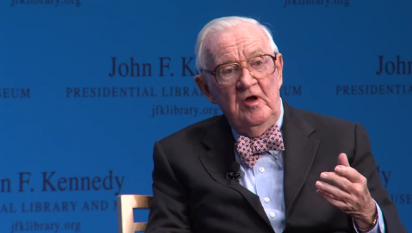 Retired Associate Justice John Paul Stevens. (YouTube, JFK Library)