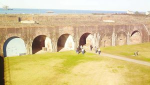 Inside Fort Morgan, looking towards Sally Port today.