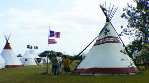 Most tipis the author has seen in the Eastern US in years.