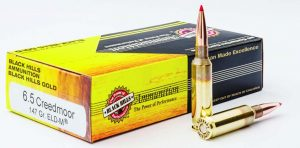 Black Hills Gold loads the 6.5 Creedmoor with the 147-grain Hornady ELD-M® bullet, as well as with a 143-grain ELD-M®.