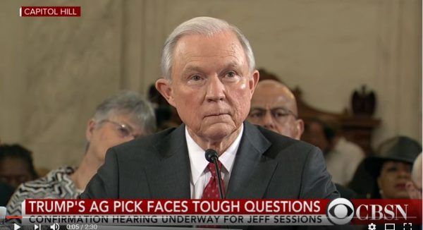Attorney General Jeff Sessions. (Screen capture, YouTube, CBS News)