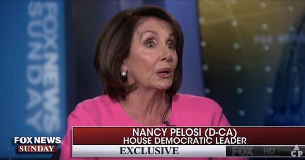Democrat Nancy Pelosi.  (Screen capture, YouTube, Fox News)