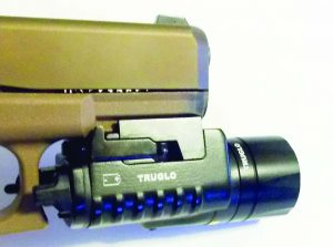 The Tru Glo combat light is a good combination with the Glock 19X