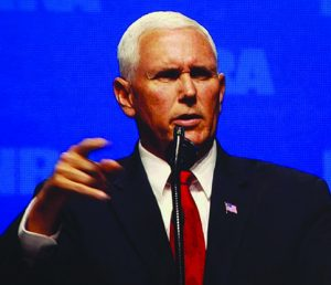 Vice President Mike Pence helped make history when he and the president appeared on the same NRA program.