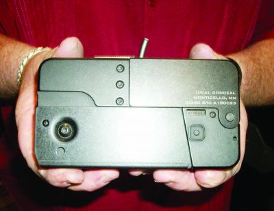 Ideal Conceal's Cellphone gun is the same size as an iPhone.