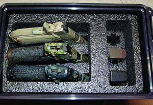 The padded interior of MTM's Tactical Pistol Case 3 will keep your pistols and spare magazines protected from the elements.