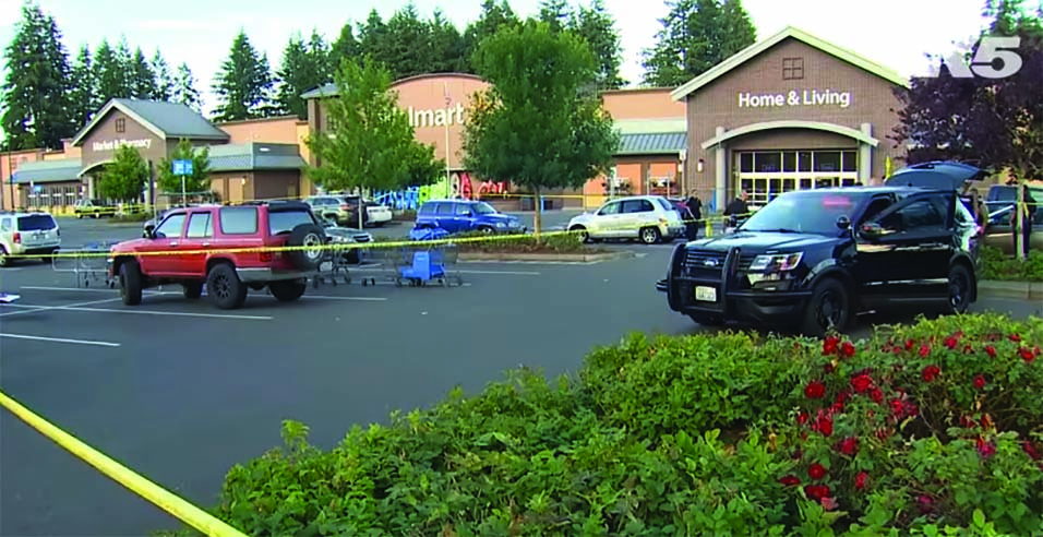 The Walmart store in Tumwater, WA, where armed citizens confronted a rampant gunman. (KING5 News video)