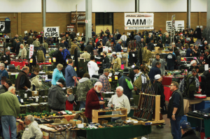 This bustling crowd was typical of gun shows around the country on the same weekend as Guns Save Lives Day in mid-December.