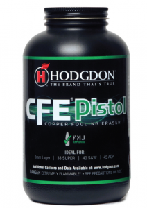 Hodgdon's new CFE Pistol Powder is formulated to deter copper fouling.