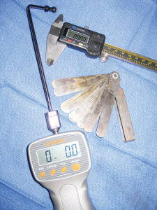 The Lyman trigger Pull Gauge is a must for doing handgun trigger jobs. Calipers and feeler gauges are just a couple of the measuring devices that are useful around the home shop.