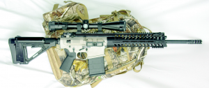 The POF P308 on a BucK Commander pack, ready for the field.