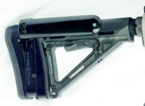 Battline's SAPR on a Magpul MOE stock.